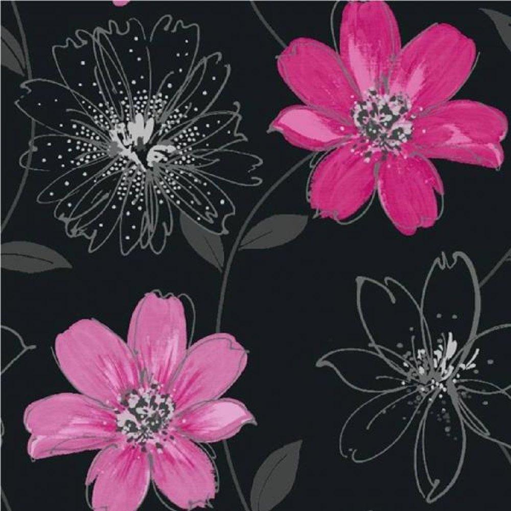 arthouse opera samba motif floral metallic flower 10m. Black Bedroom Furniture Sets. Home Design Ideas
