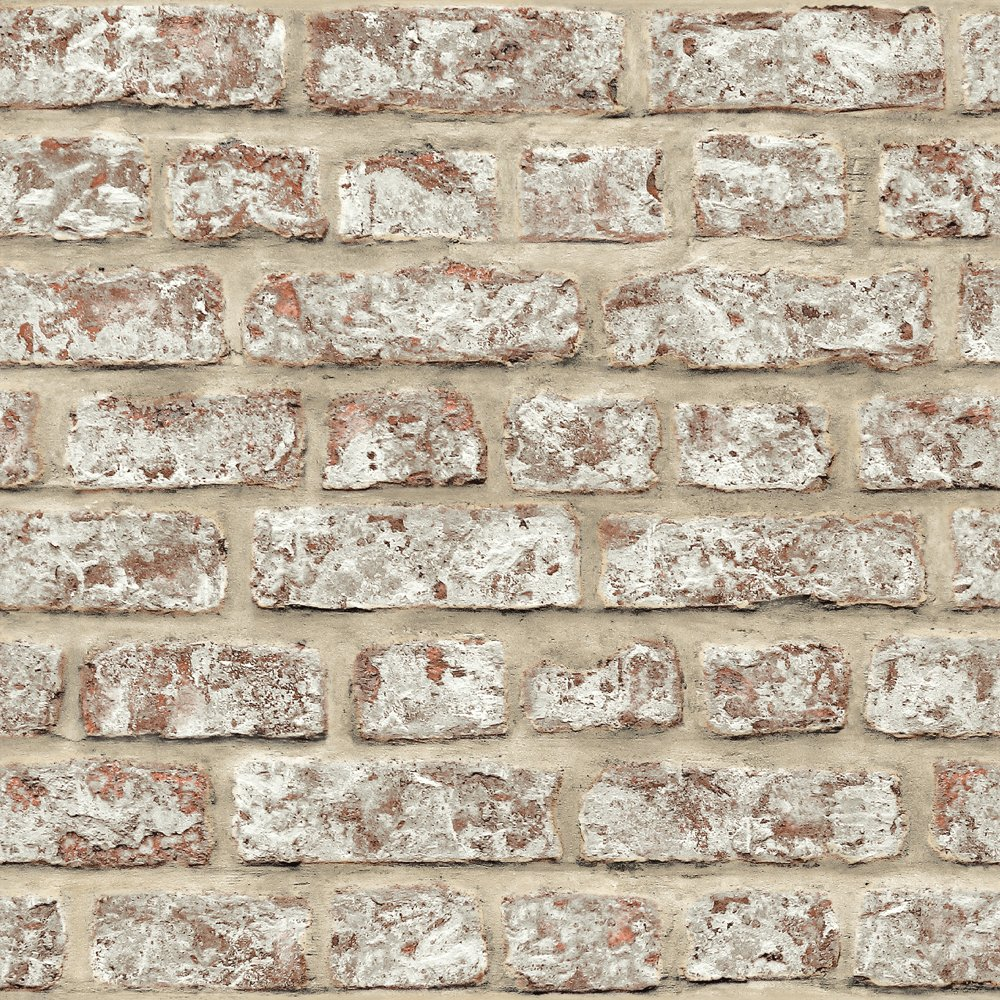 arthouse rustic brick pattern painted stone effect