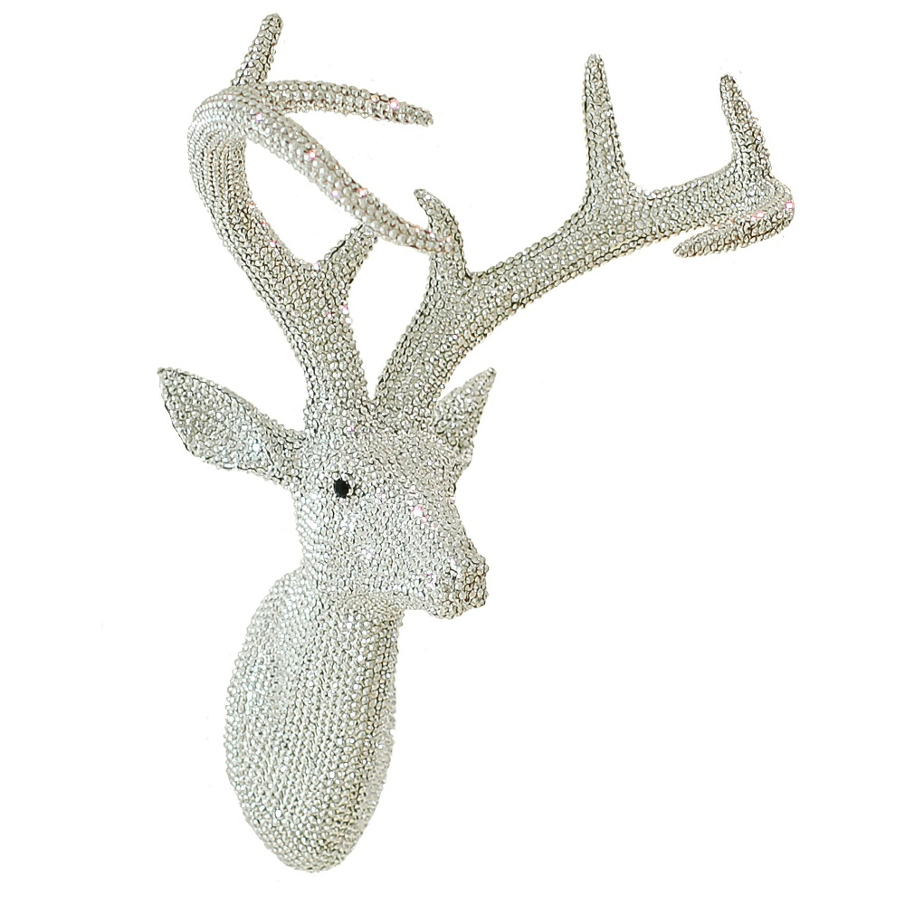 Arthouse Star Studded Stag Head Diamante Deer Mounted Wall
