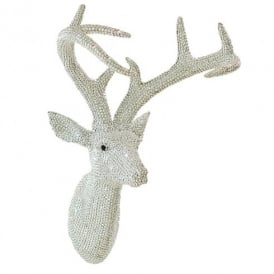 Arthouse Star Studded Stag Head Diamante Deer Mountable Wall Art Silver 008172