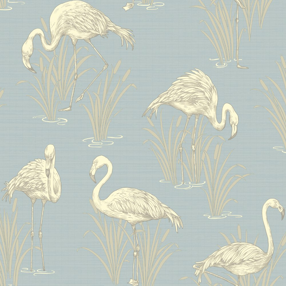 arthouse vintage lagoon traditional flamingo textured wallpaper 252605. Black Bedroom Furniture Sets. Home Design Ideas