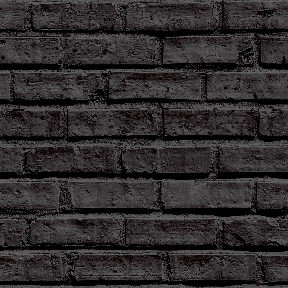 Arthouse vip brick wall pattern stone effect motif for Black wall mural