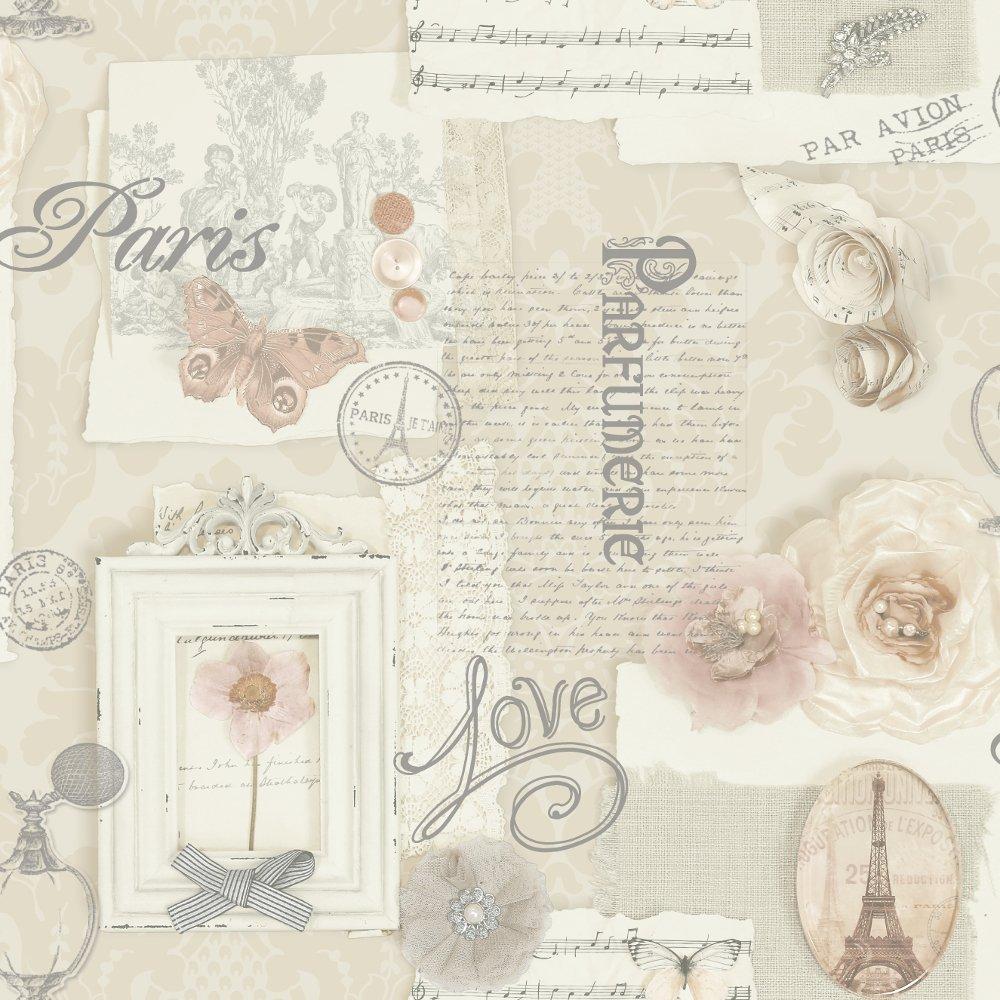 arthouse vip felicity floral pattern paris silver. Black Bedroom Furniture Sets. Home Design Ideas