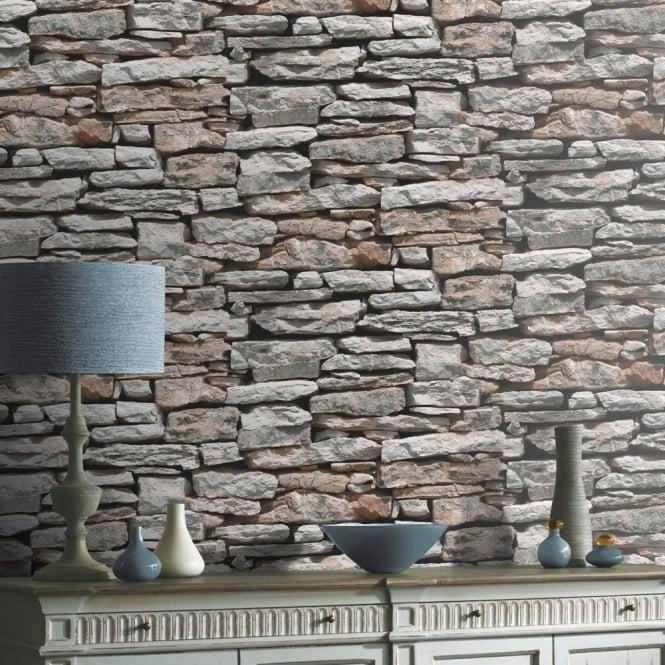 Arthouse vip moroccan stone wall brick photographic - Art house wallpaper uk ...