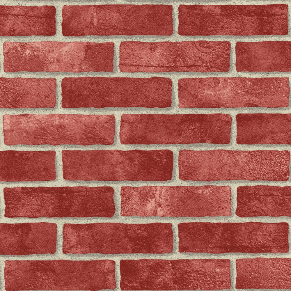 arthouse vip red brick wall pattern faux stone effect