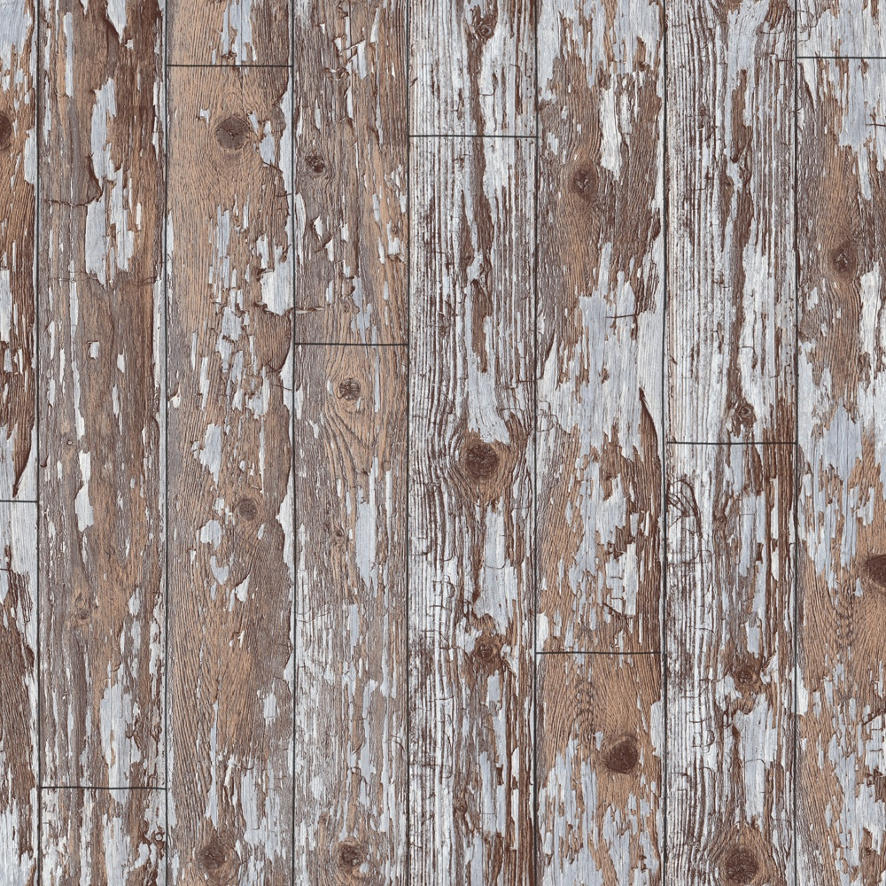 I Love Wallpaper Wood Effect : Arthouse VIP Wood cabin Distressed Wooden Effect Vinyl Wallpaper622009