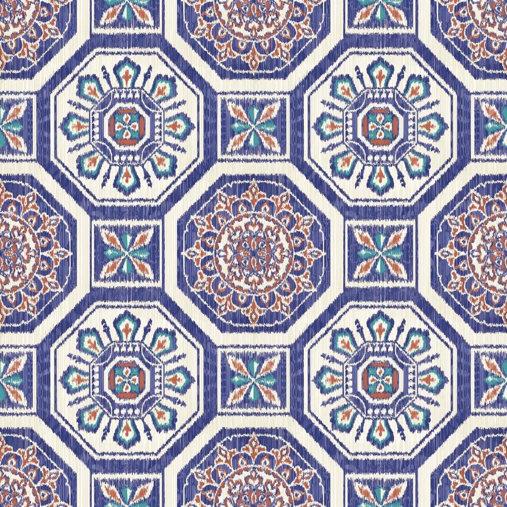 Arthouse Brasillia Tile Pattern Wallpaper Modern Geometric Metallic Motif 690500