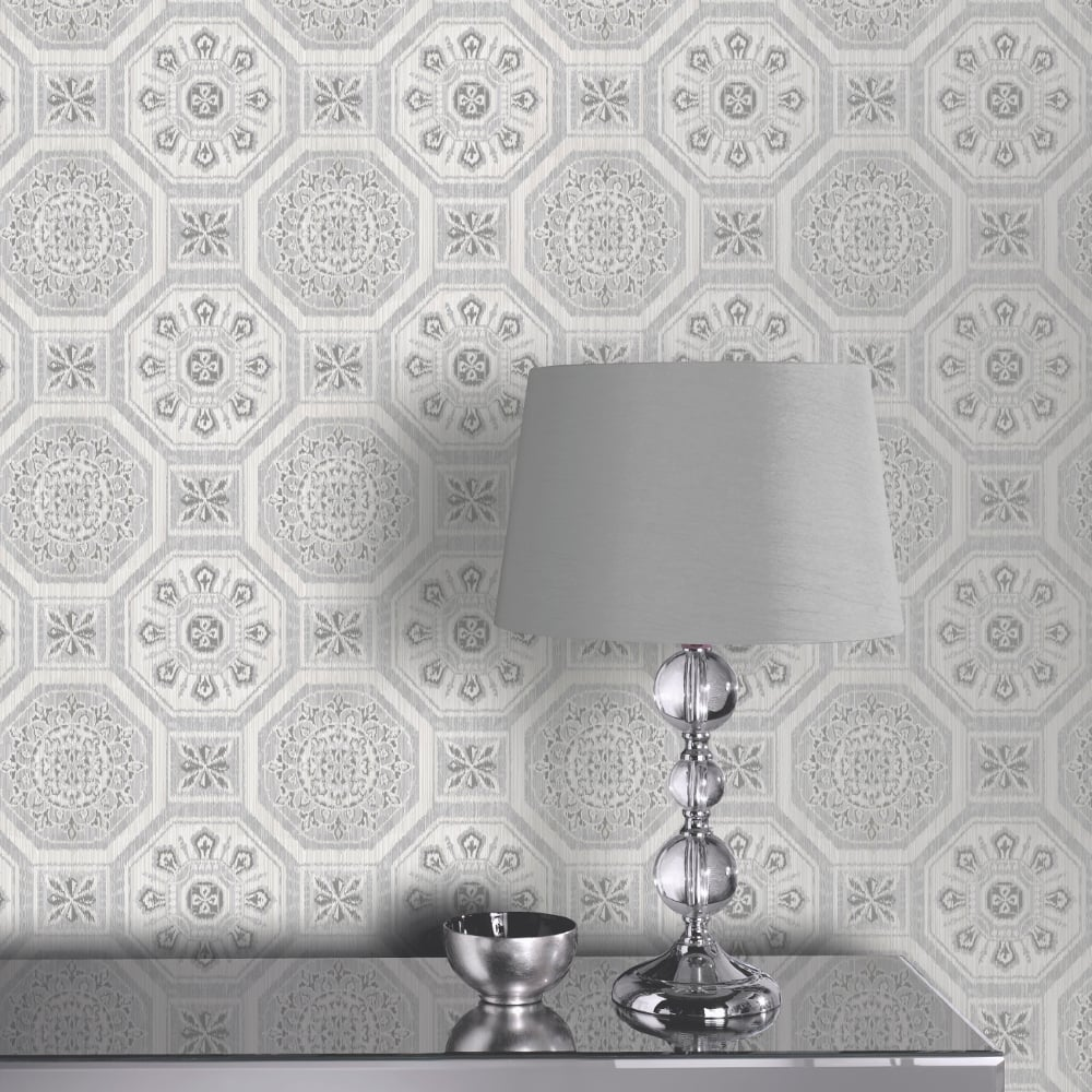 Arthouse Brasillia Tile Pattern Wallpaper Modern Geometric