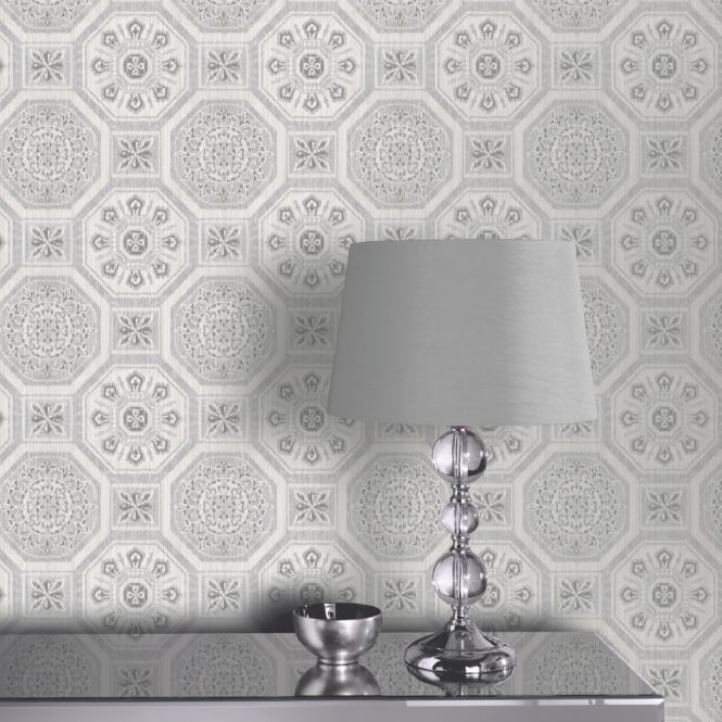 Arthouse Brasillia Tile Pattern Wallpaper Modern Geometric