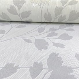 Arthouse Catalina Floral Pattern Wallpaper Leaf Motif Glitter Textured Vinyl 292501