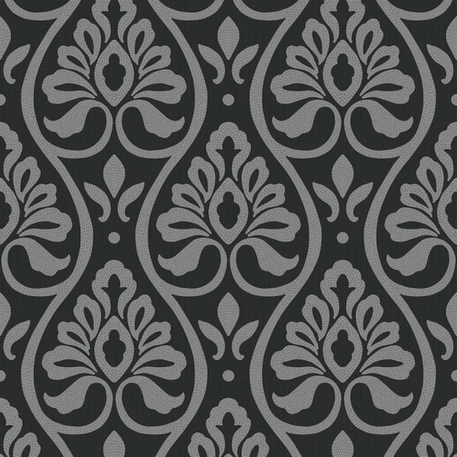 Arthouse Debussy Damask Pattern Glitter Motif Textured Vinyl Wallpaper 888302