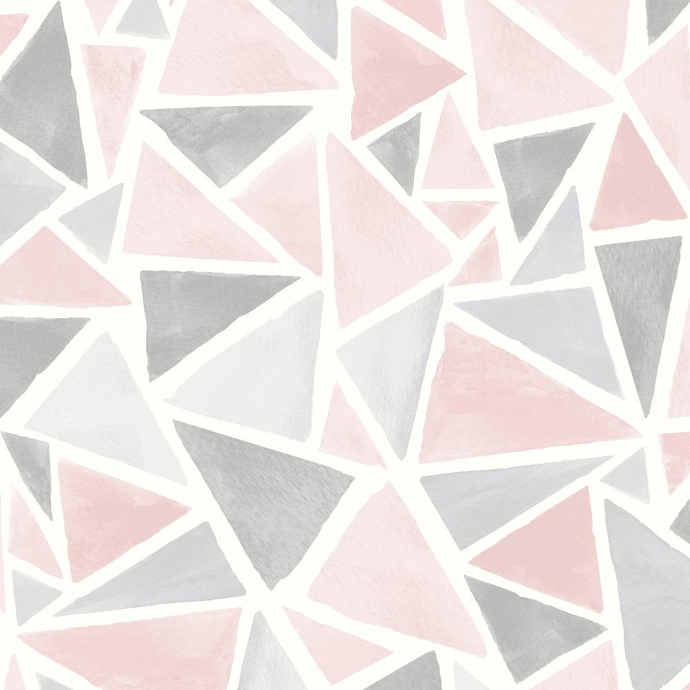 Arthouse Delta Geometric Glitter Triangle Pastel Colour Textured Modern Wallpaper 902002