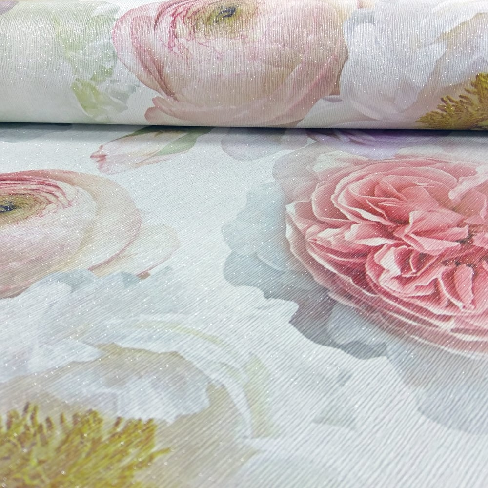 arthouse diamond bloom floral pattern wallpaper rose. Black Bedroom Furniture Sets. Home Design Ideas