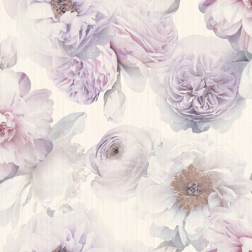 Arthouse Diamond Bloom Floral Pattern Wallpaper Rose