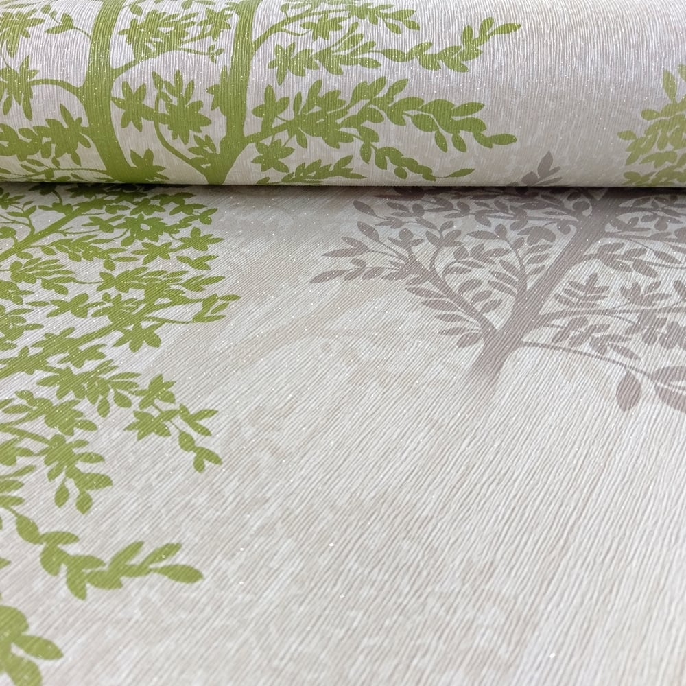 Arthouse Arthouse Diamond Tree Pattern Wallpaper Forest Leaf Glitter Motif Textured 259000