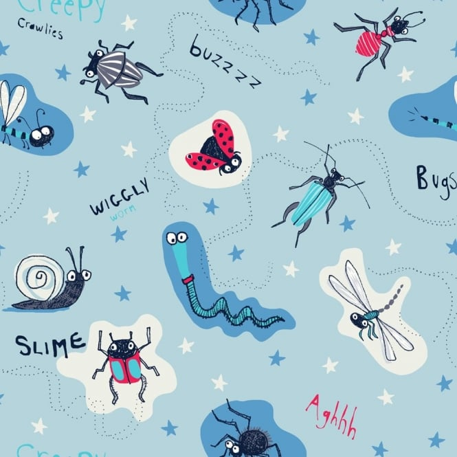 Arthouse Dont Bug Me Insect Pattern Cartoon Animal Childrens Wallpaper 667600