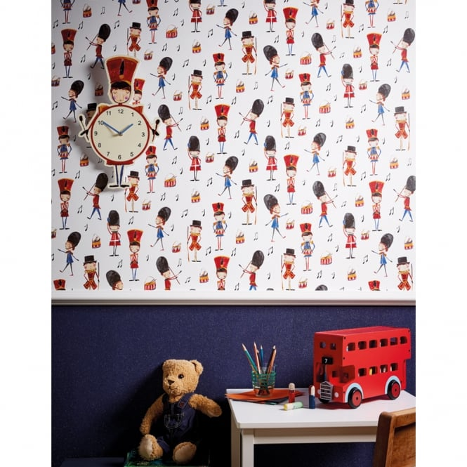 Arthouse Drummer Boy Childrens Wallpaper Music Soldier Cartoon Motif 696003