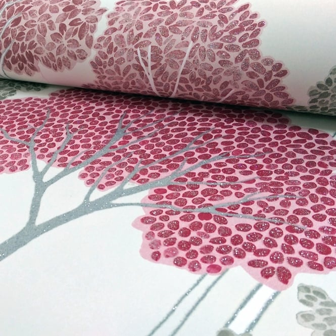 Arthouse Ellwood Tree Pattern Forest Leaves Motif Glitter Wallpaper 670005