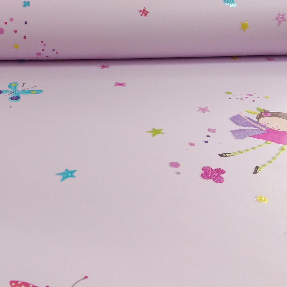 arthouse fairy dust butterfly glitter childrens wallpaper 667100