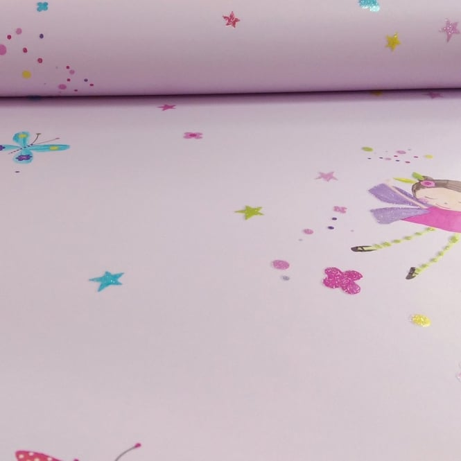 Arthouse Fairy Dust Fairies Butterfly Pattern Glitter Childrens Wallpaper 667100