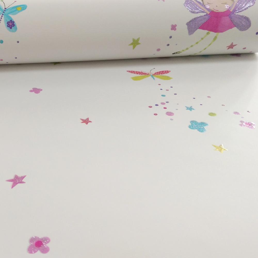 Arthouse Fairy Dust Fairies Butterfly Pattern Glitter Childrens Wallpaper 667101
