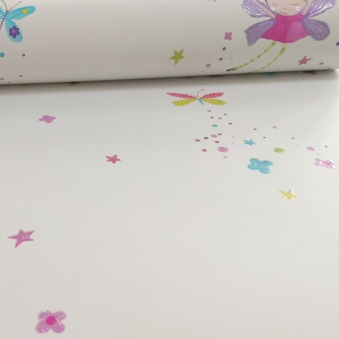 Arthouse Fairy Dust Fairies Butterfly Pattern Glitter Childrens Wallpaper 667101