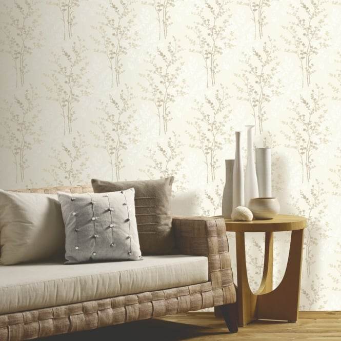 Arthouse Fern Floral Leaf Pattern Textured Designer Vinyl Wallpaper 250402