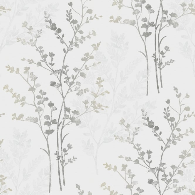 Arthouse Fern Floral Leaf Pattern Textured Designer Vinyl Wallpaper 250404