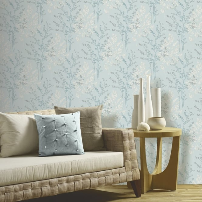 Arthouse Fern Floral Leaf Pattern Textured Designer Vinyl Wallpaper 250405