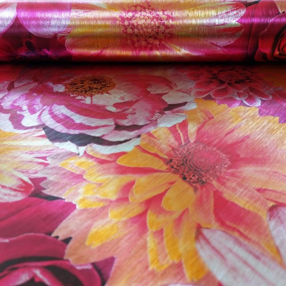 Arthouse Foil In Bloom Flower Pattern Wallpaper Floral