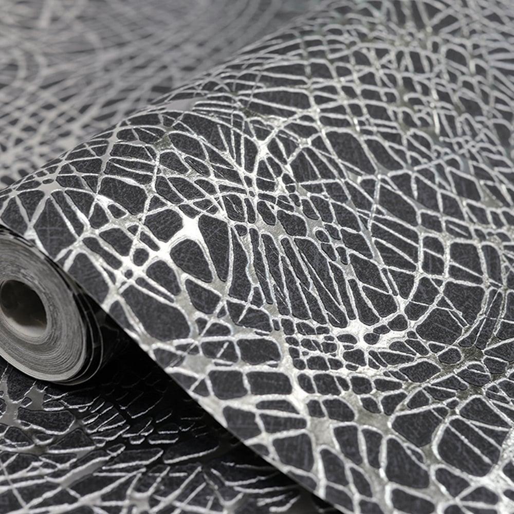 Arthouse Foil Swirl Pattern Wallpaper Geometric Textured Metallic Motif Vinyl 294100