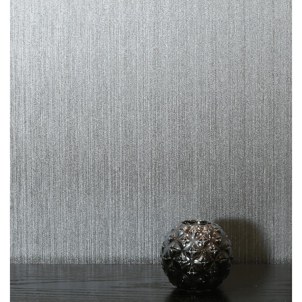 Arthouse Gianni Plain Foil Textured Metallic Shimmer Striped