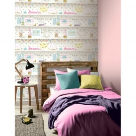 Arthouse Girls Life Childrens Wallpaper Polka Dot Pattern Heart Unicorn Glitter 696004