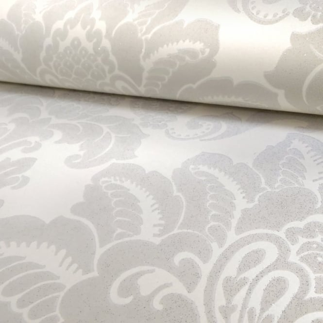 Arthouse Glisten Damask Pattern Floral Metallic Glitter Wallpaper 673202