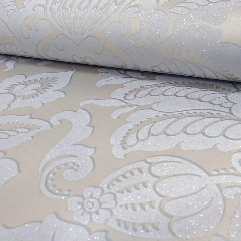 Arthouse glisten damask pattern floral metallic glitter - Art house wallpaper uk ...