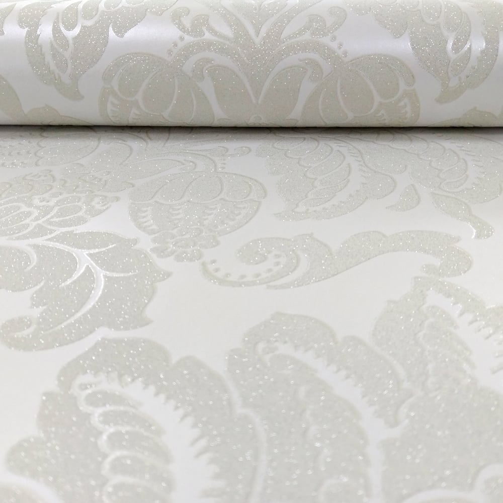 Arthouse Glisten Damask Pattern Floral Metallic Glitter Wallpaper 673207