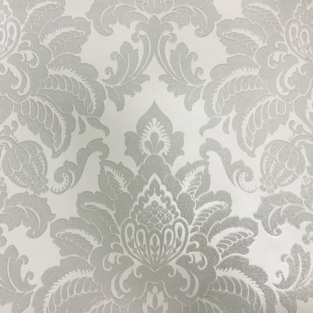 Arthouse Glisten Damask Pattern Floral Metallic Glitter Wallpaper
