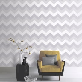 Arthouse Glitterati Chevron Stripe Pattern Wallpaper Metallic Embossed Glitter 892302