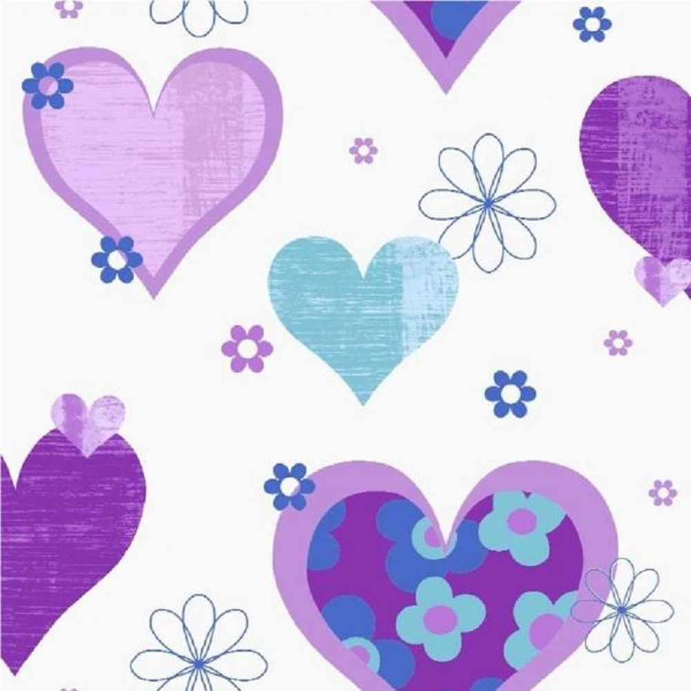 Arthouse Happy Hearts Flowers Luxury Girls Childrens Kids Bedroom Wallpaper  533702