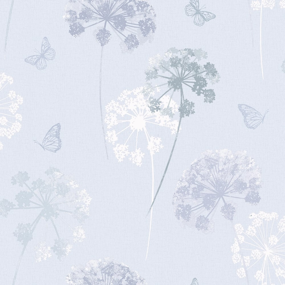 Arthouse Kitty Floral Pattern Wallpaper Butterfly Flower Motif