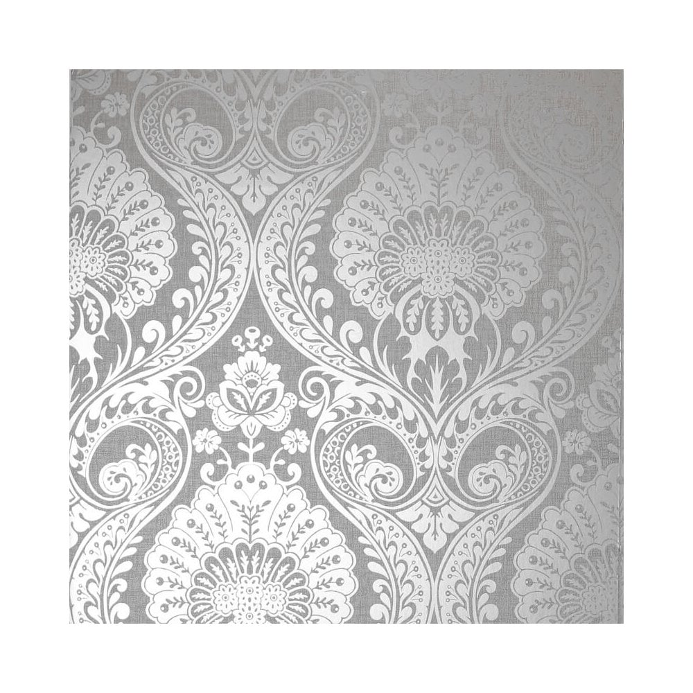 Wallpaper Rolls Sheets Arthouse Luxe Damask Silver Metallic