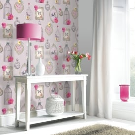 Arthouse Madeline Bird Butterfly Pattern Wallpaper Picture Frame Heart 694400
