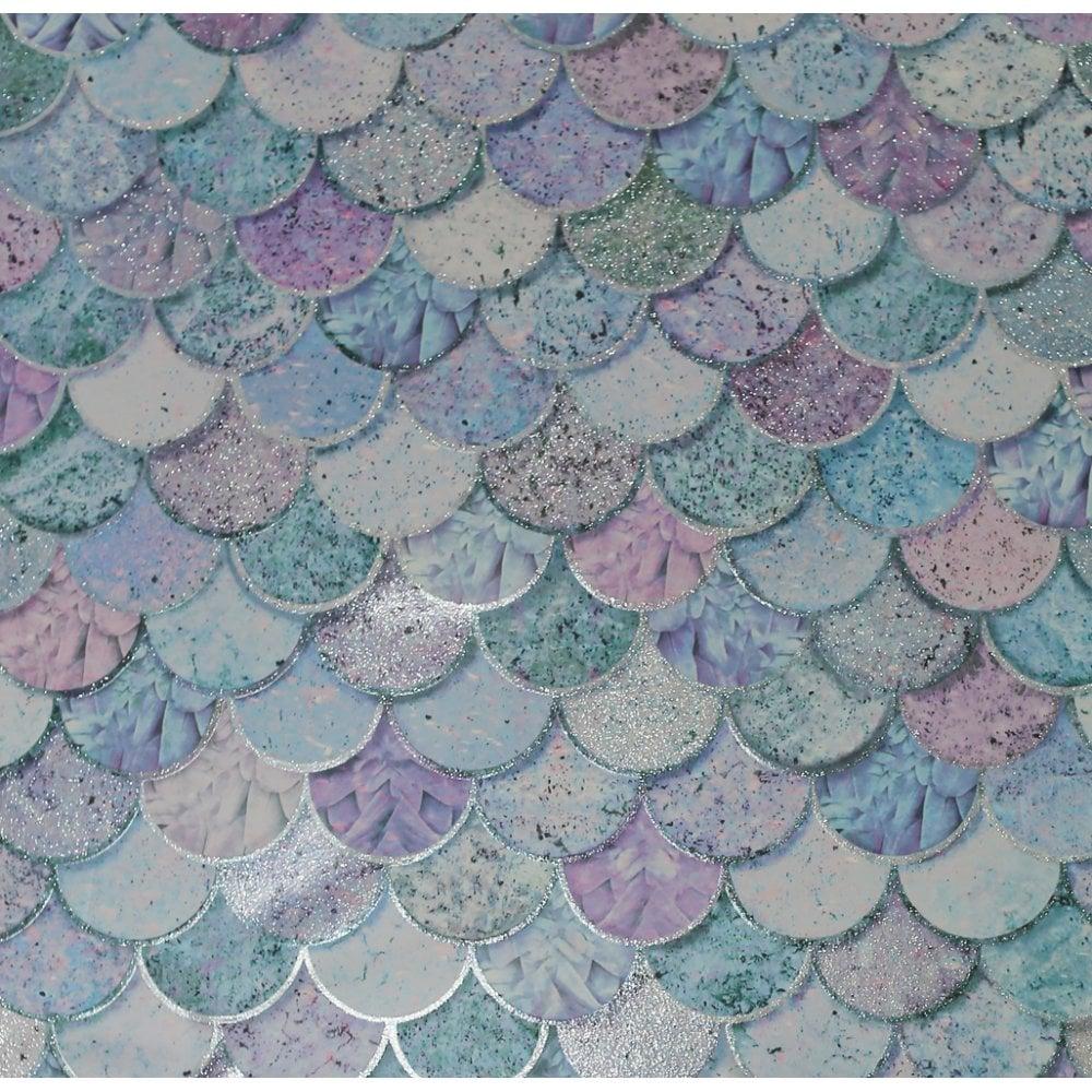 Arthouse Mermazing Ice Blue Glitter Mermaid Collage Shells