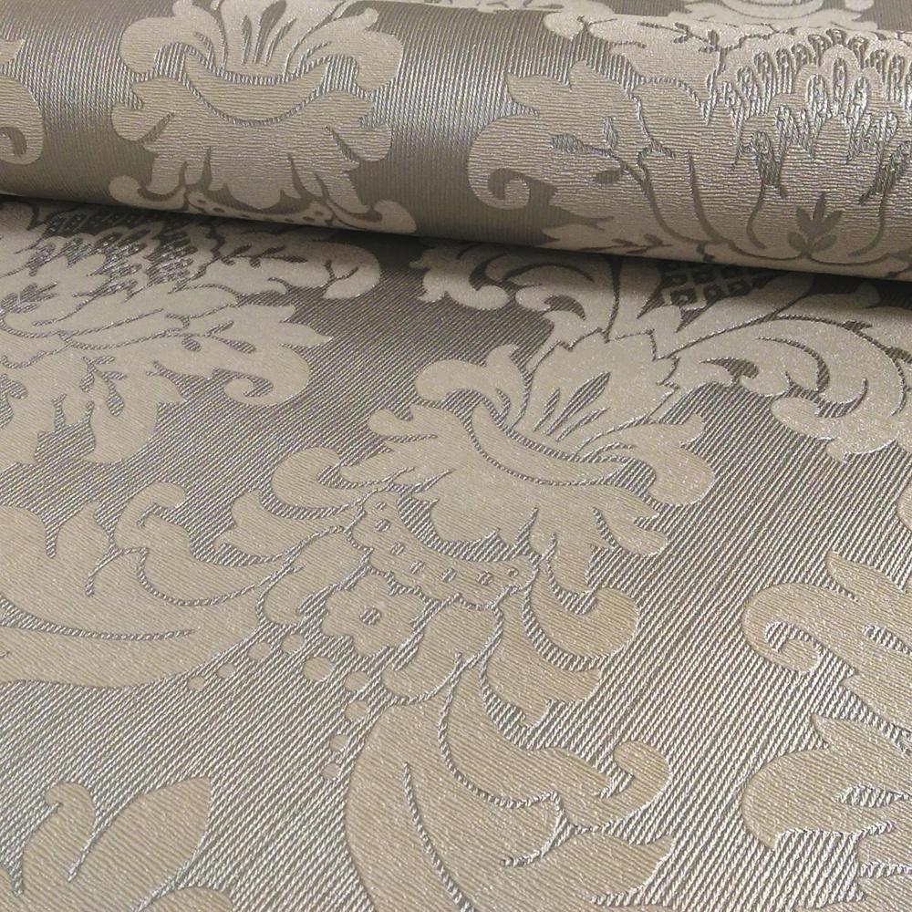 Messina Damask Pattern Metallic Vintage Collection Luxury Faux Fabric Wallpaper 261004