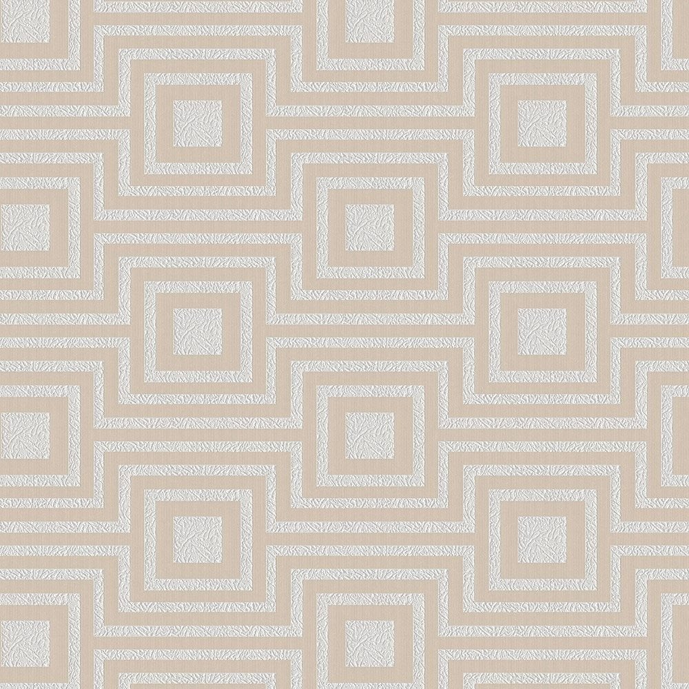 Arthouse Modena Geometric Textured Metallic Bathroom Wallpaper 901800