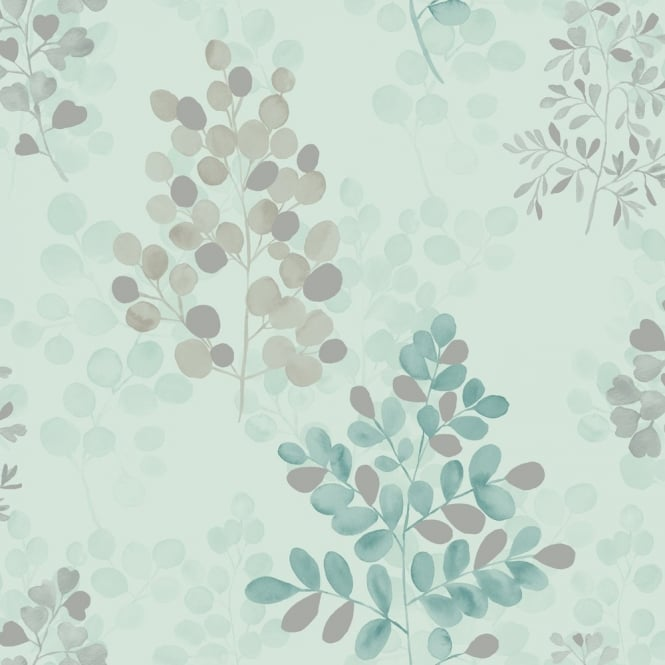 Arthouse Montana Floral Leaf Pattern Metallic Silver Vinyl Wallpaper 889501