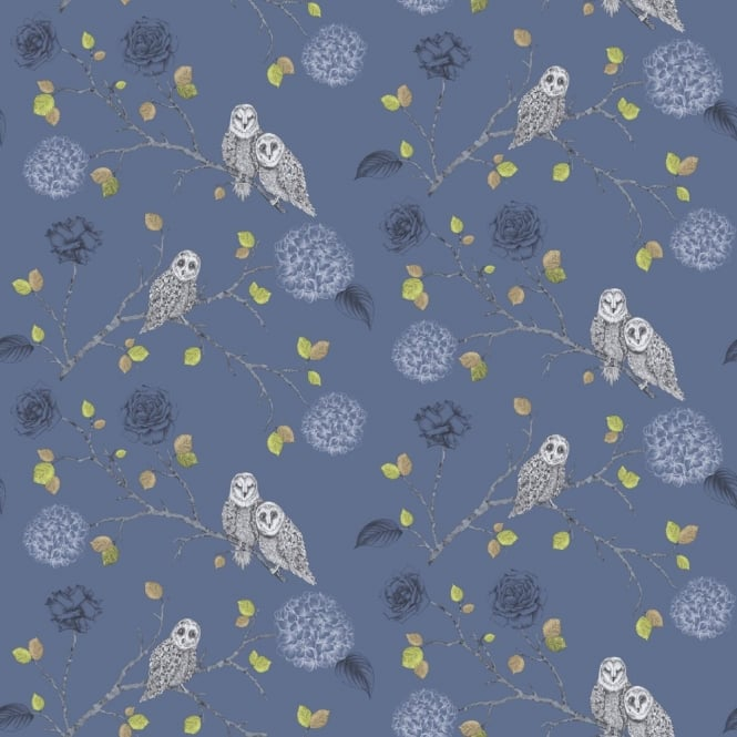 Arthouse Night Owl Floral Pattern Bird Flower Leaf Glitter Motif Wallpaper 665002