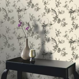 Arthouse Opera Chinoise Floral Pattern Songbird Flower Motif Wallpaper 422801