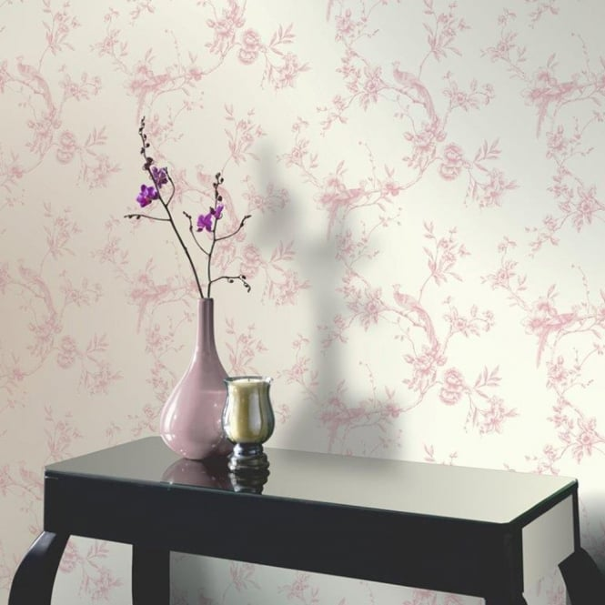 Arthouse Opera Chinoise Floral Pattern Songbird Flower Motif Wallpaper 422802