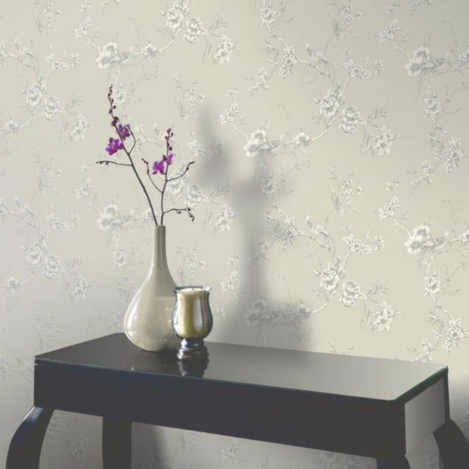 Arthouse Opera Chinoise Floral Pattern Songbird Flower Motif Wallpaper 422803
